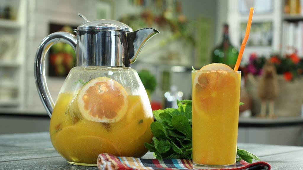 Refresco de té y naranja de 'Robin Food'