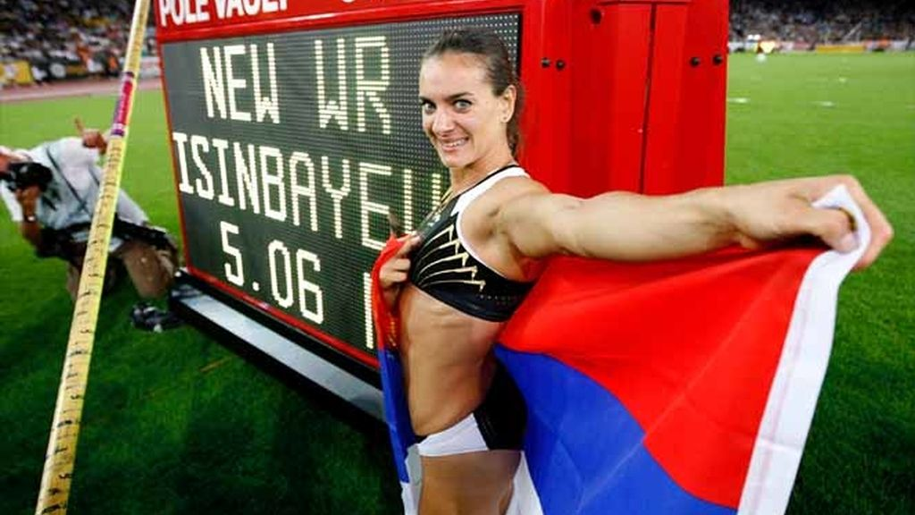 Isinbayeva con su record del mundo