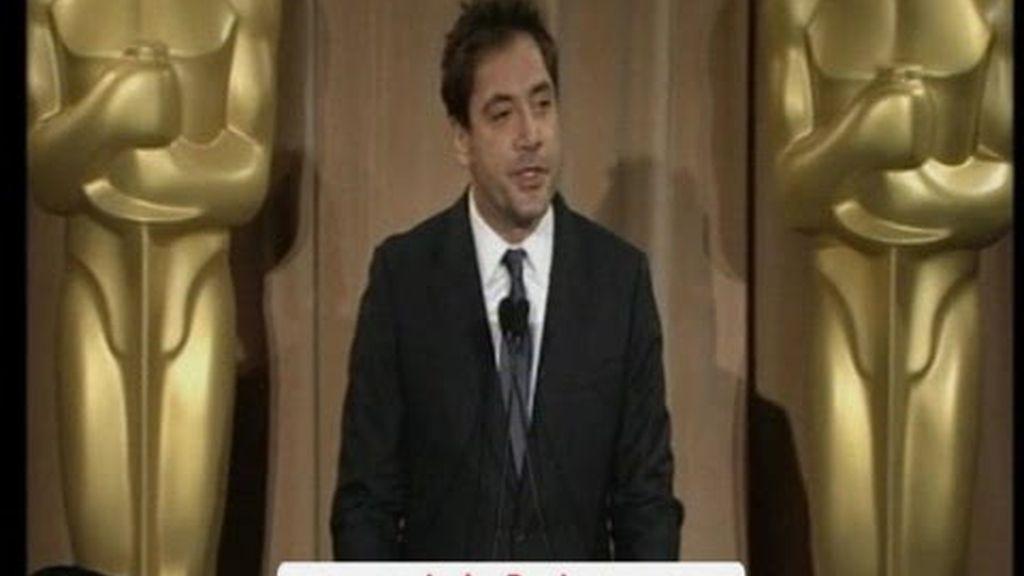 Bardem asiste a la comida de los candidatos a los Oscar