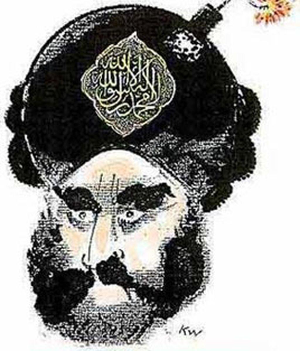 La caricatura de Mahoma con un turbante y una bomba que desató la ira del mundo islámico.