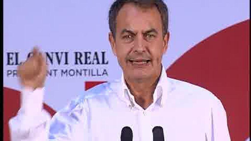 Zapatero, con Montilla