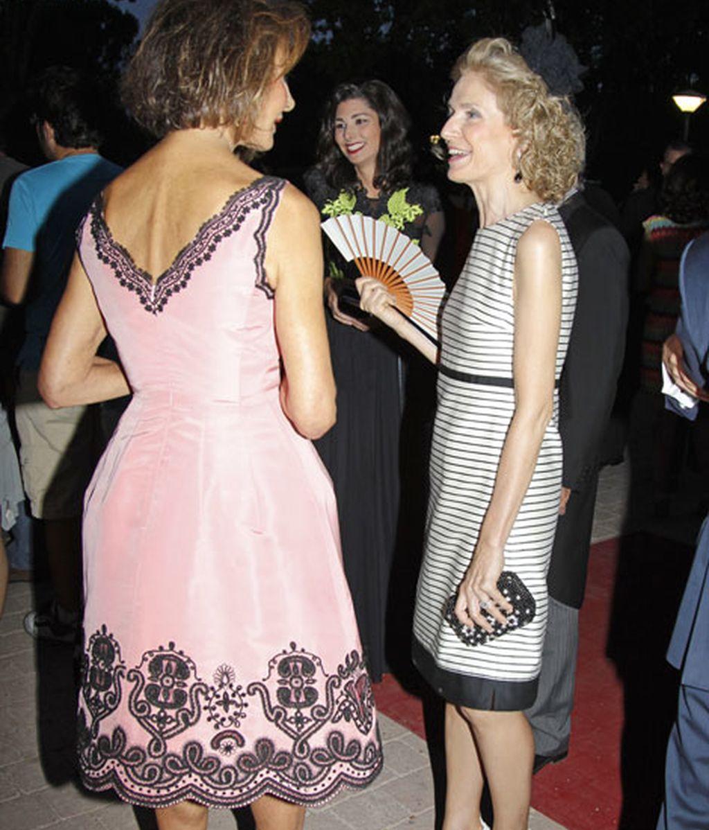 Nati Abascal compartió risas con Pilar de Medina