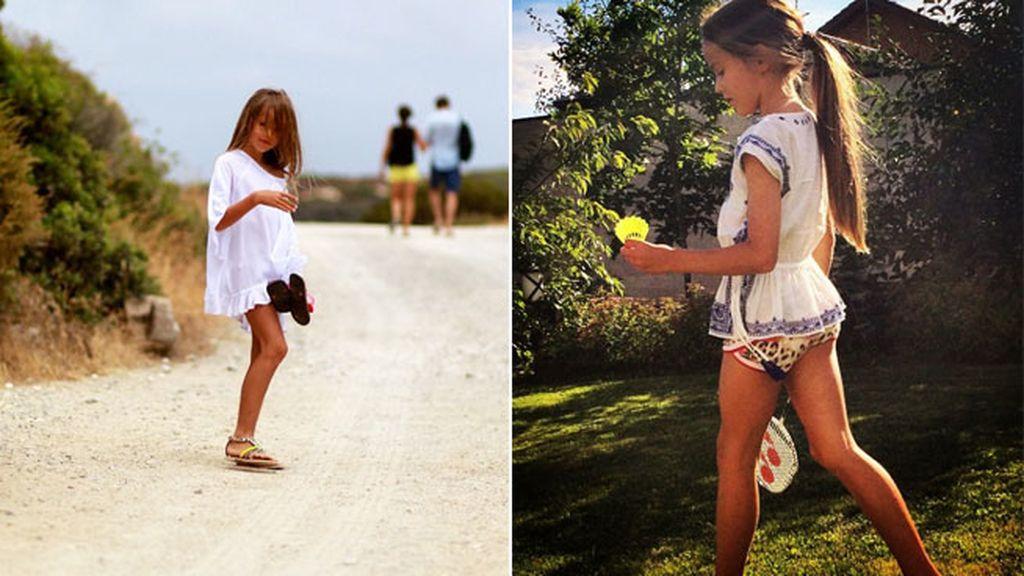 Cuando no está delante de los focos, juega al badminton o da paseo veraniegos