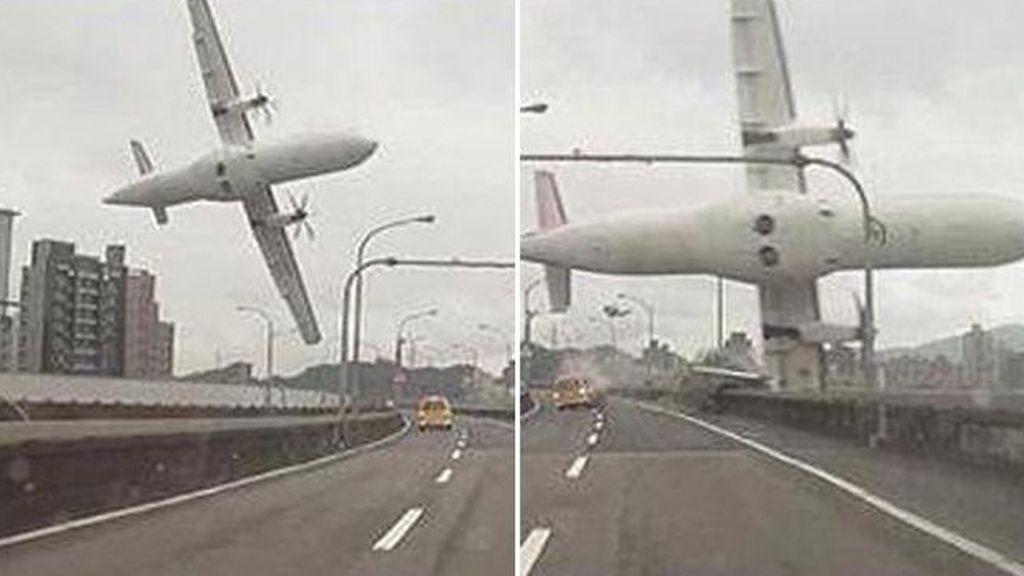 El avión se ha estrellado al poco de despegar