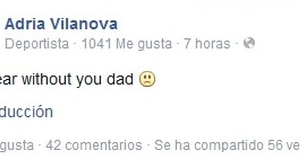 Adriá Vilanova recuerda a su padre en Facebook