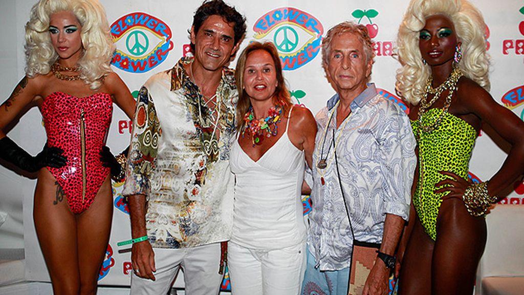Jesús Cabanas en la fiesta 'Flower Power' de Ibiza