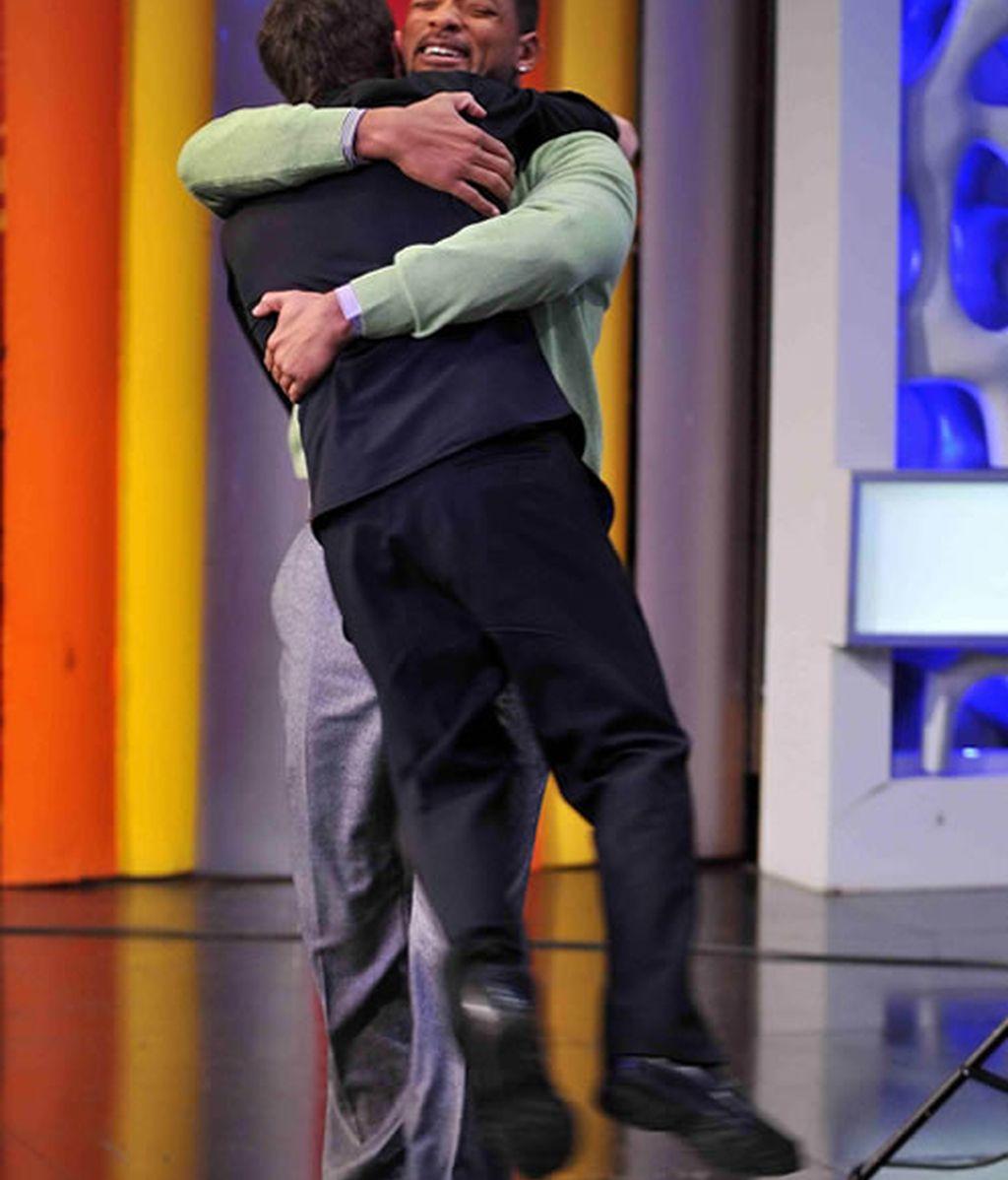 Will Smith hizo volar a Pablo Motos con un afectuoso abrazo