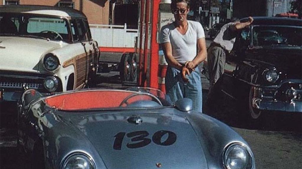 James Dean, antes de su accidente mortal de tráfico
