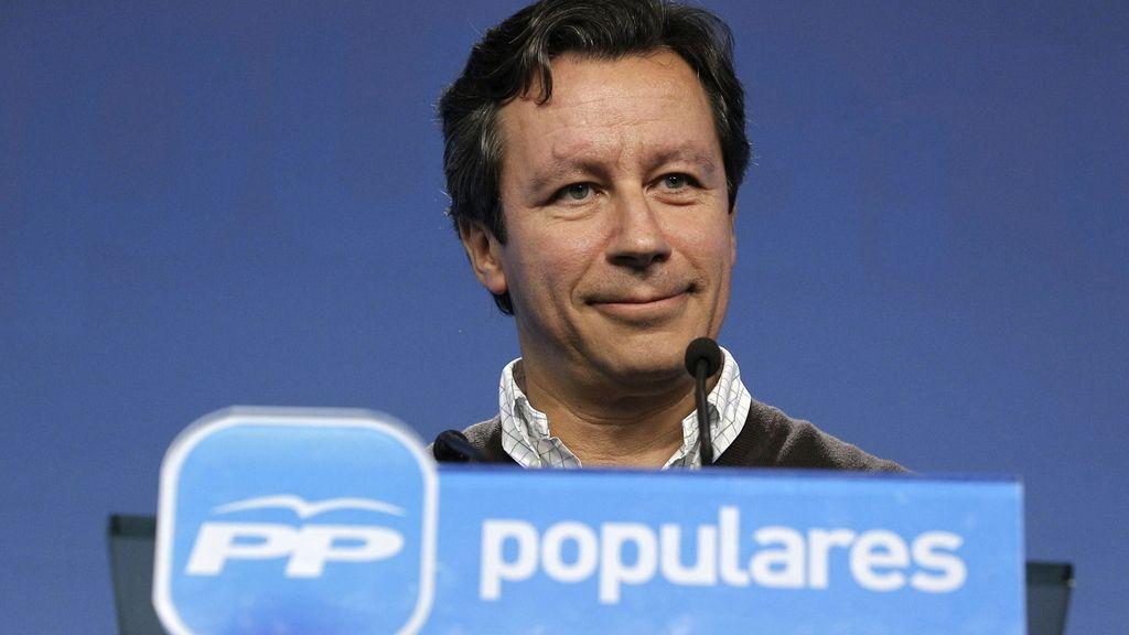 El vicesecretario de Organización del Partido Popular, Carlos Floriano, en rueda de prensa