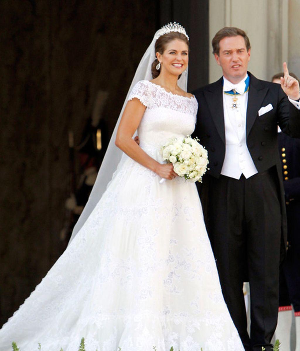 Magdalena de Suecia con un vestido de novia de Valentino