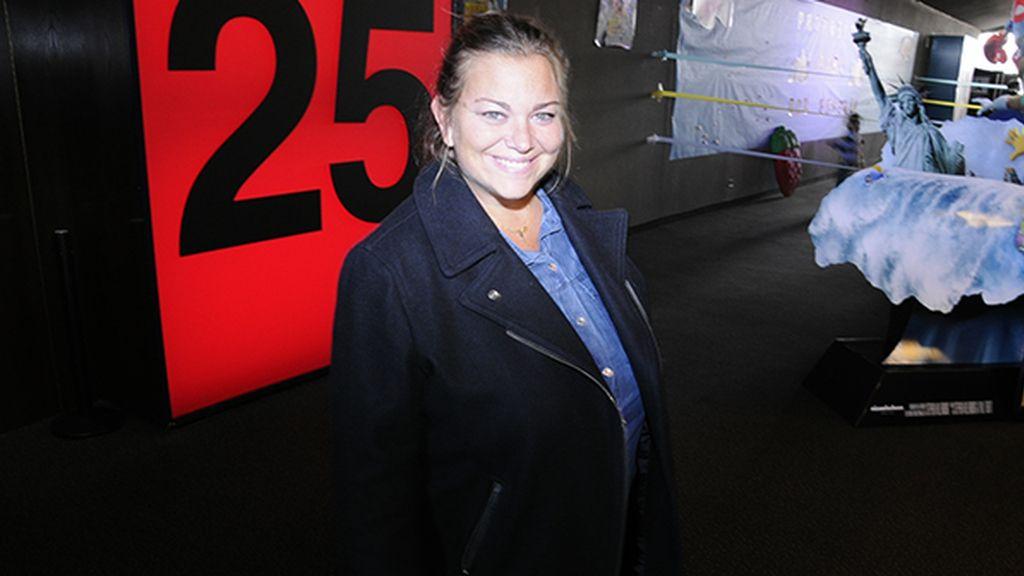 Caritina Goyanes acudió con su numerosísima familia a su cita con Bob Esponja