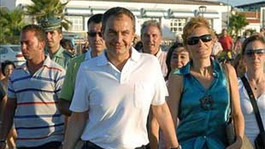 El presidente José Luis Rodríguez Zapatero suele pasar sus vacaciones en el Coto de Doñana. En algunas ocasiones, importantes sucesos le han llevado a interrumpirlas. Foto: EFE