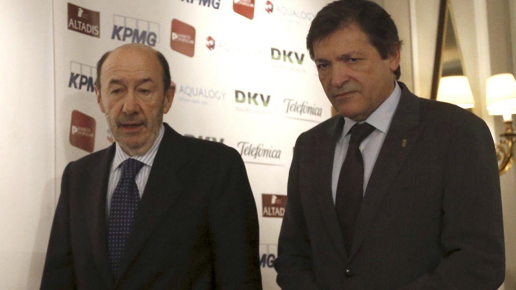 Rubalcaba y Javier Fernández