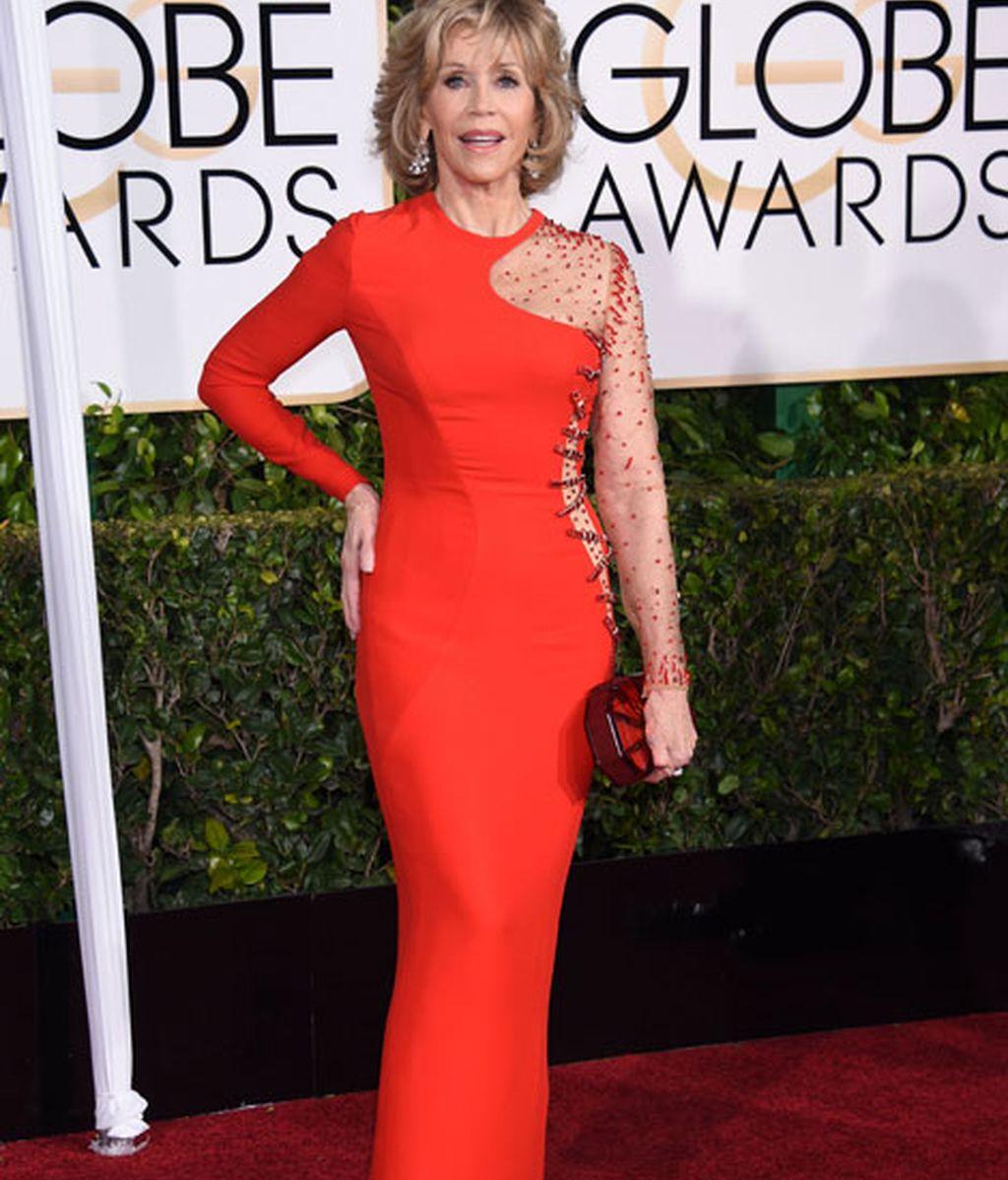 Jane Fonda de Versace