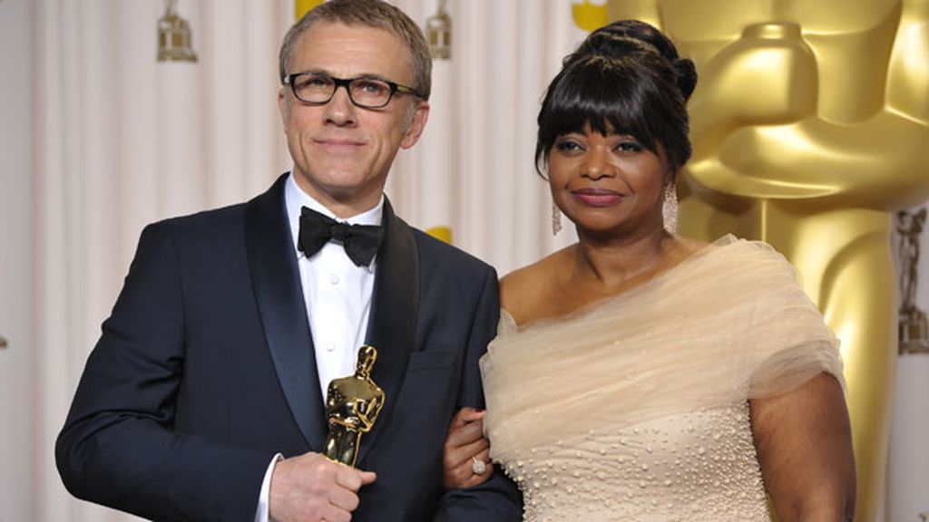 Christoph Waltz, Mejor Actor de Reparto, y Octavia Spencer