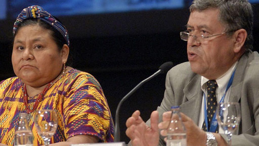 La Premio Nobel de la Paz, Rigoberta Menchú