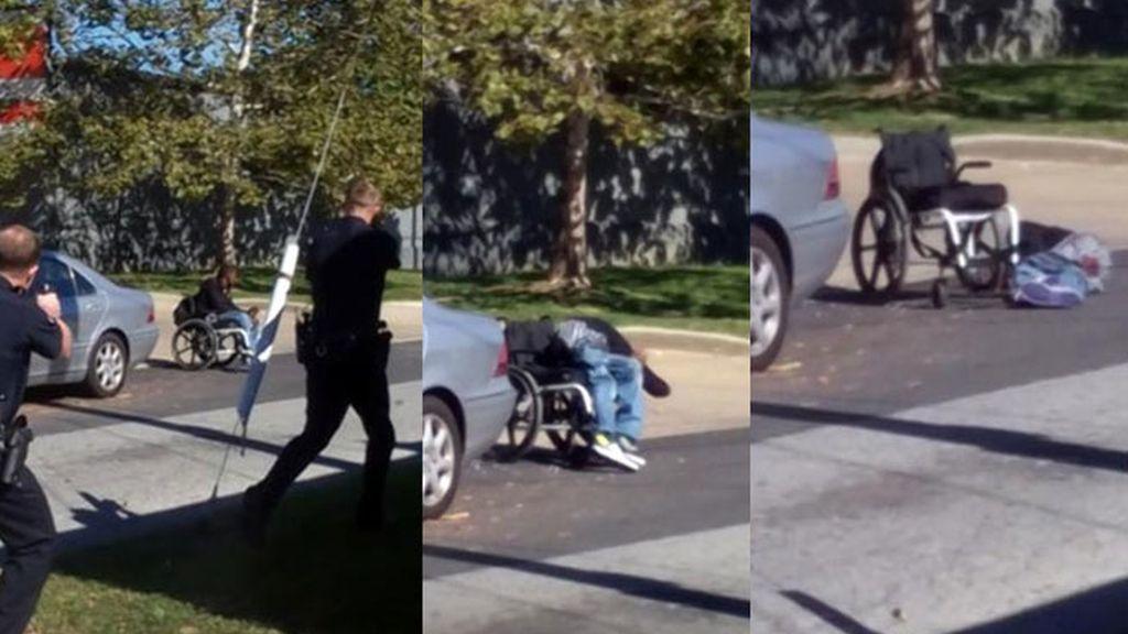 abuso policial EEUU,violencia policial EEUU,policía mata discapacitado,hombre desarmado silla de ruedas,