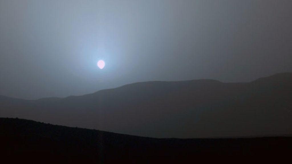 Las azules puestas de Sol en Marte