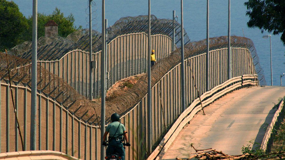 Valla que separa Marruecos de Melilla