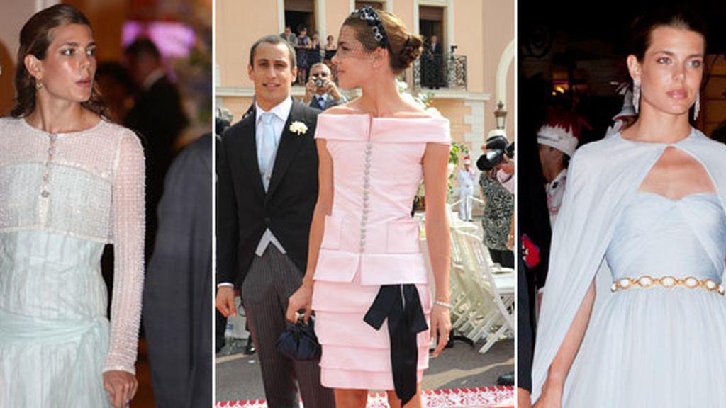 Los tres looks de los seis protagonistas en la boda de Alberto y Charlene
