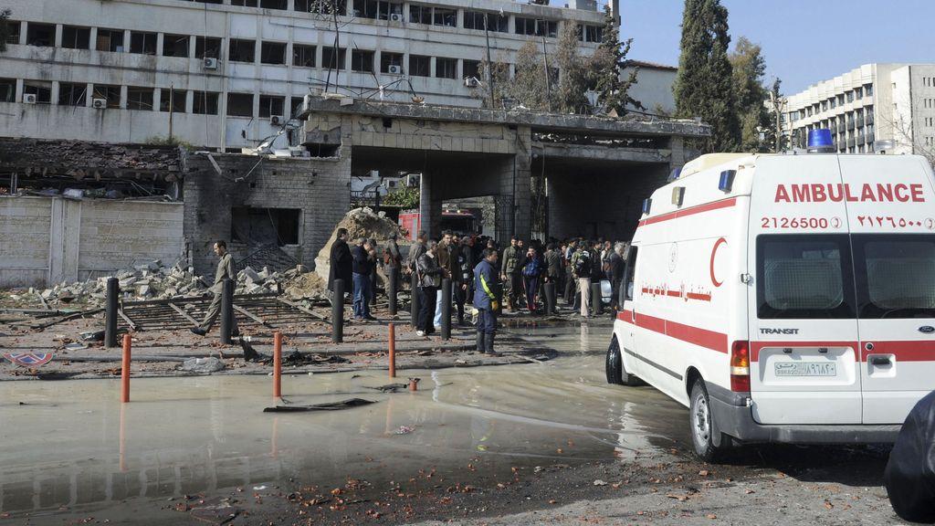 Imagen del lugar de la explosión de la bomba
