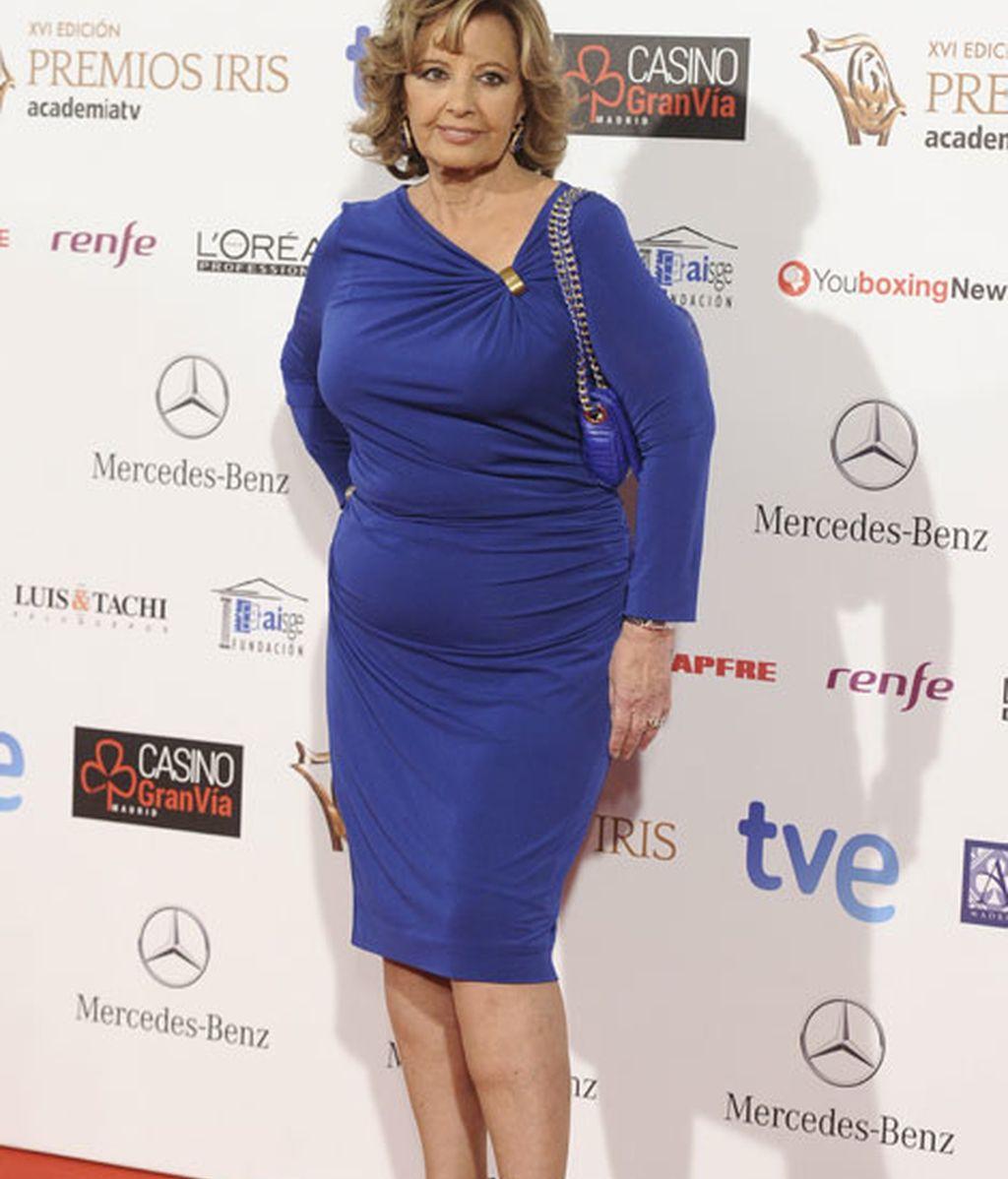 María Teresa Campos acudió a los Premios Iris de la Academia