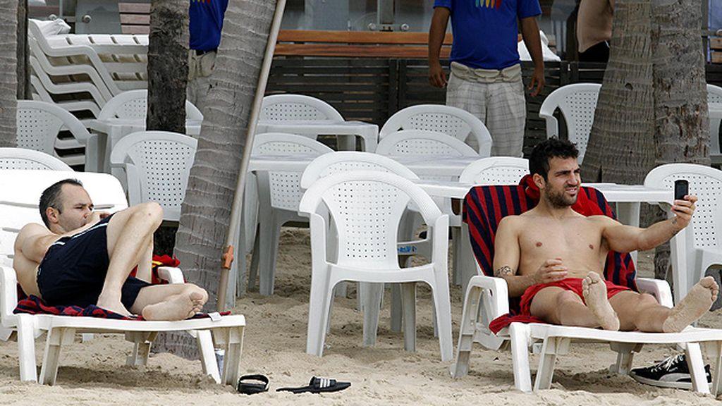Los chicos han aprovechado su día de descanso para descansar