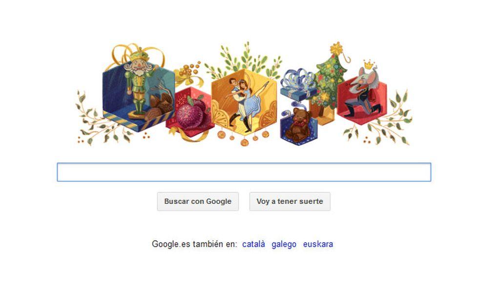 El doodle de Google conmemora el 120 Aniversario de El Cascanueces
