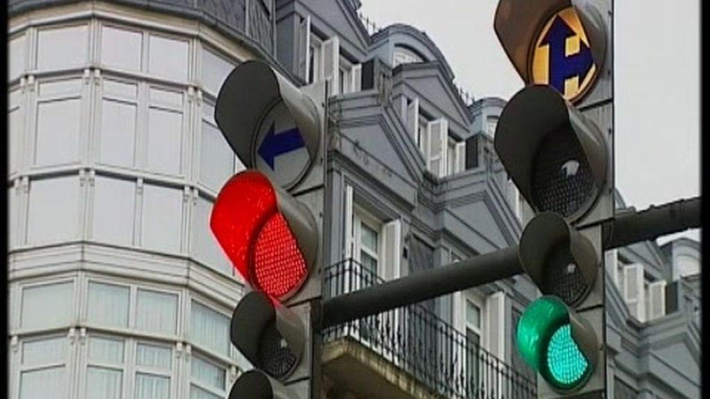 Bombillas led en los semáforos de Bilbao