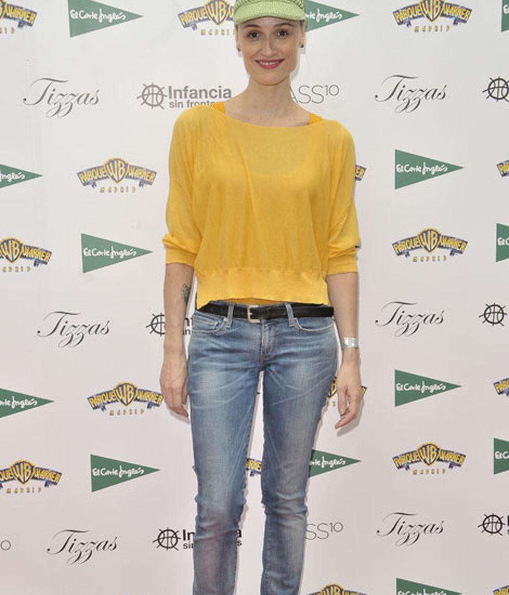 Laura Pamplona eligió un llamativo estilismo