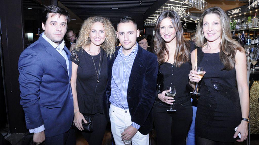 Marcos Pérez, Adriana García-Abril, Ángel del Olmo, la bailaora Cecilia Gómez y Belén Sanz