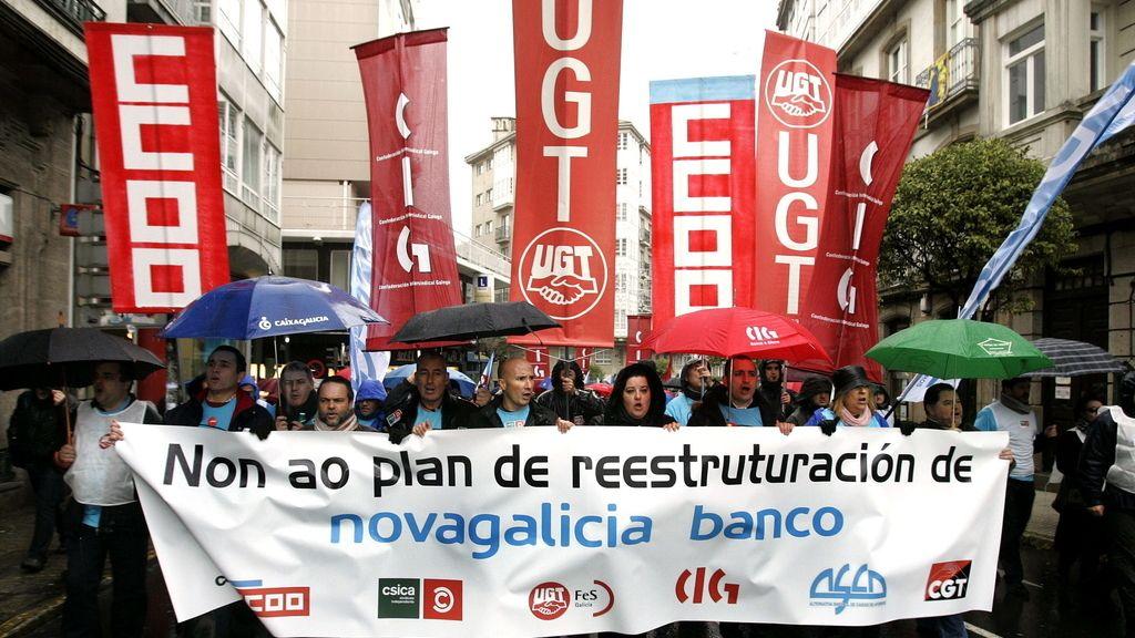 Manifestación en Santiago de Compostela. Foto: EFE