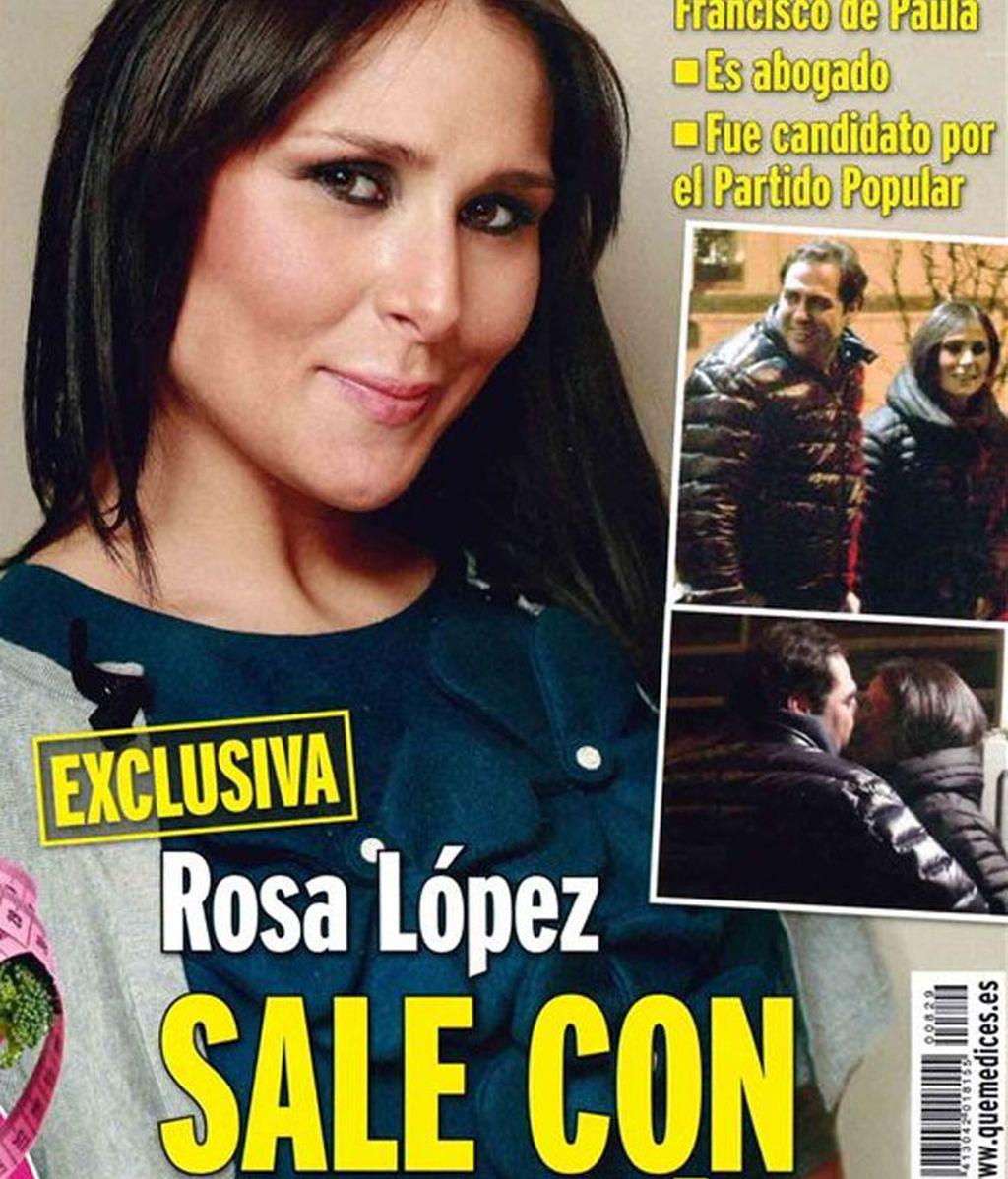 Rosa López, enamorada