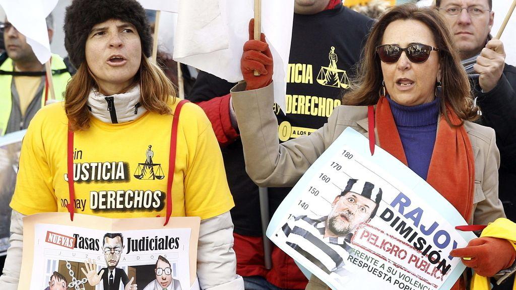 Marcha contra las tasas judiciales. Foto: EFE
