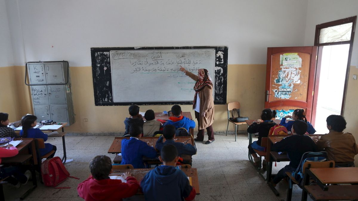 El colegio que ha vuelto a abrir en Libia
