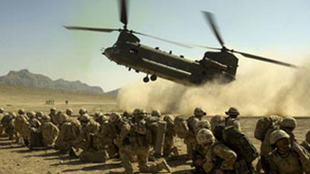 Imagen de archivo de un hellicópeto Chinook del ejército estadounidense. Foto: EFE