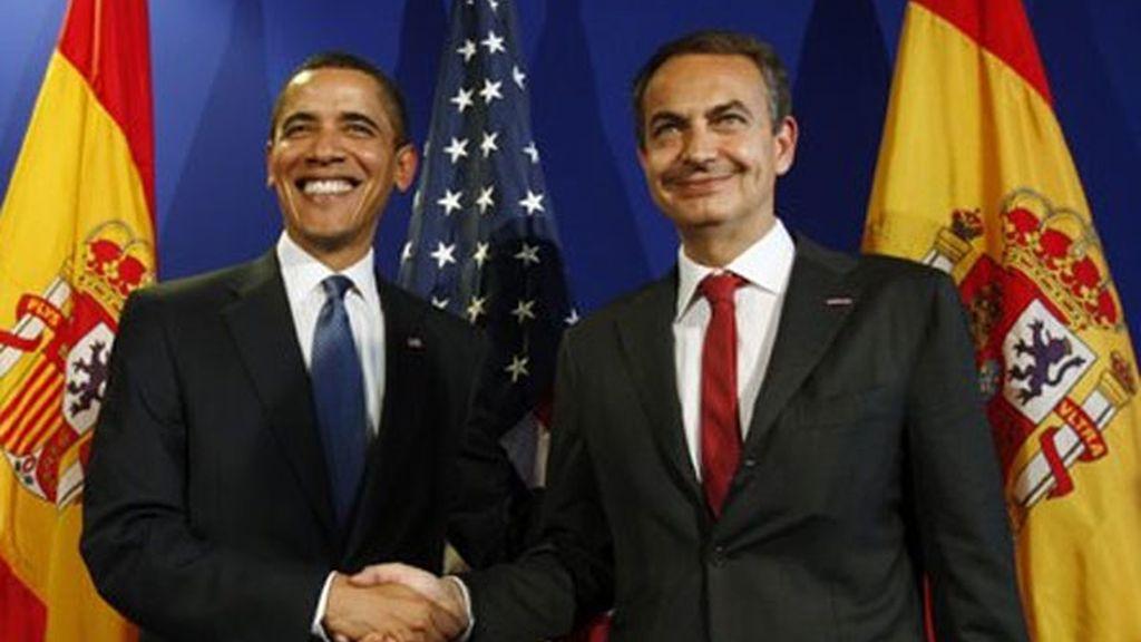 Con Obama en 2009