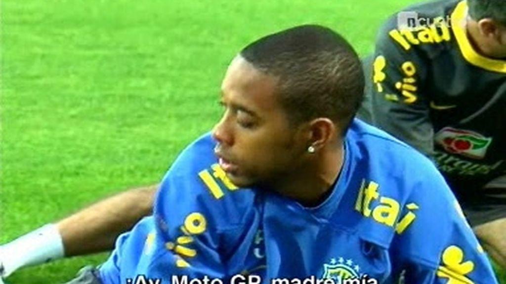 Robinho, Baptista y Kaká, los que más se divierten en la selección brasileña