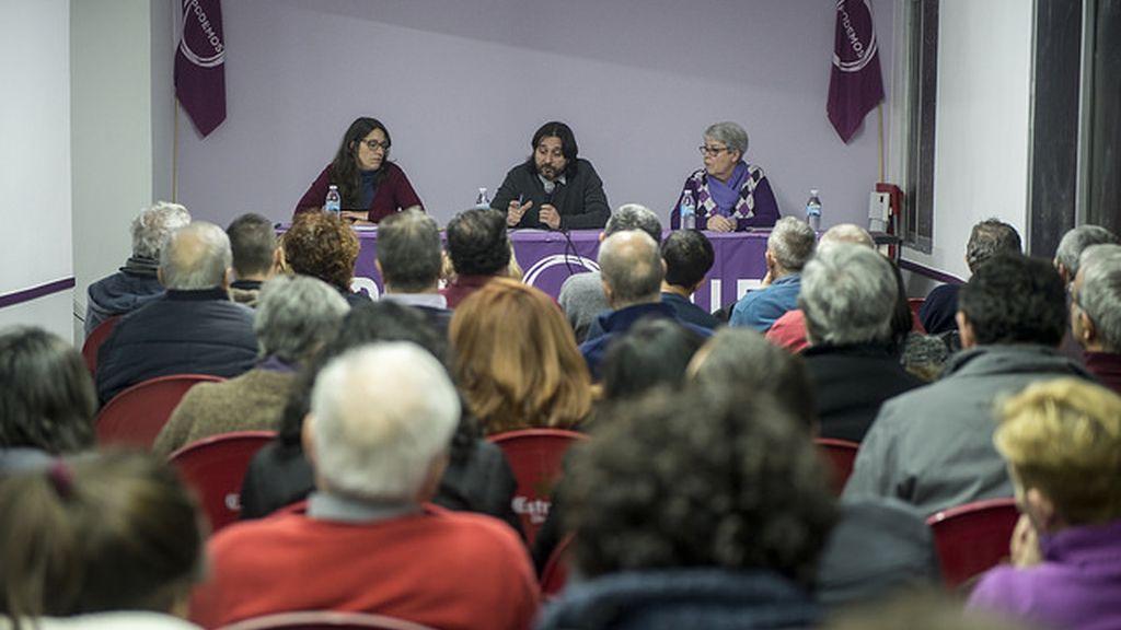 Reunión del Círculo vallecano de Podemos