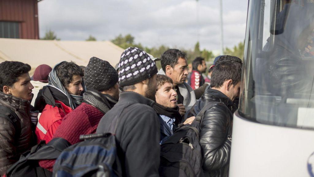 Refugiados llegan a Eslovenia