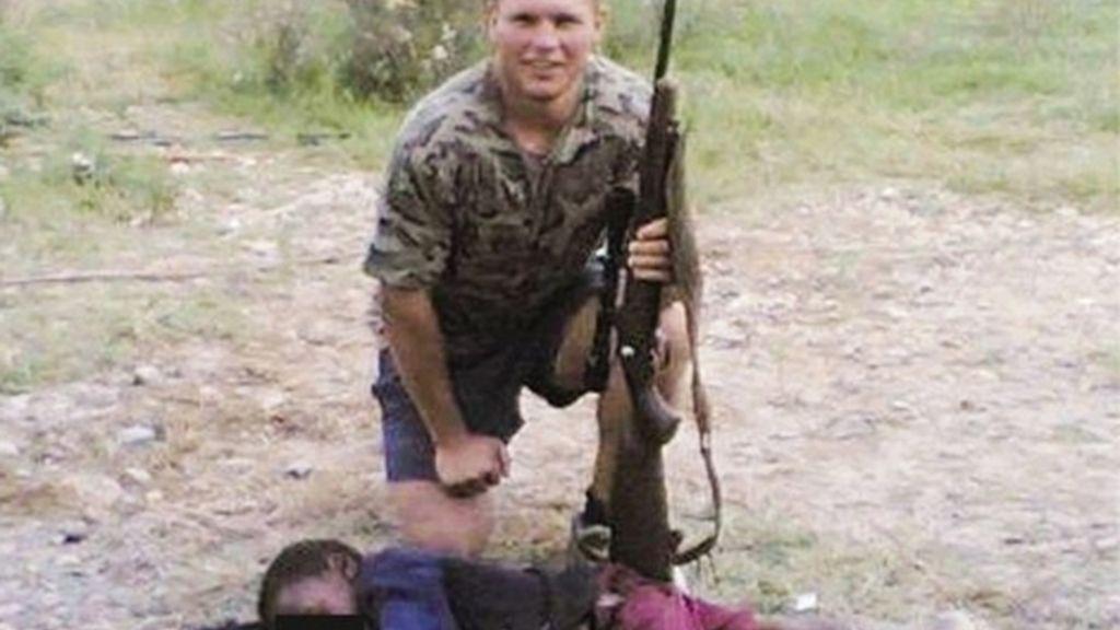La fotografía que ha subido al Facebook el presunto autor del crimen