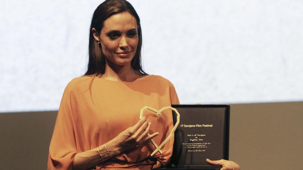 Angelina con 'el corazón de Sarajevo'