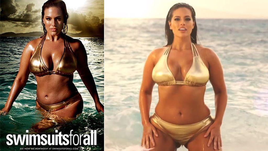 Protagoniza la campaña '#Swimsuitsforall'
