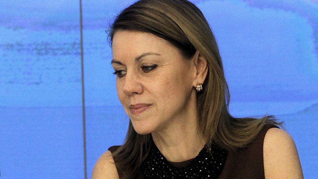 María Dolores de Cospedal en la reunión de presidentes provinciales e insulares del PP. Foto: EFE