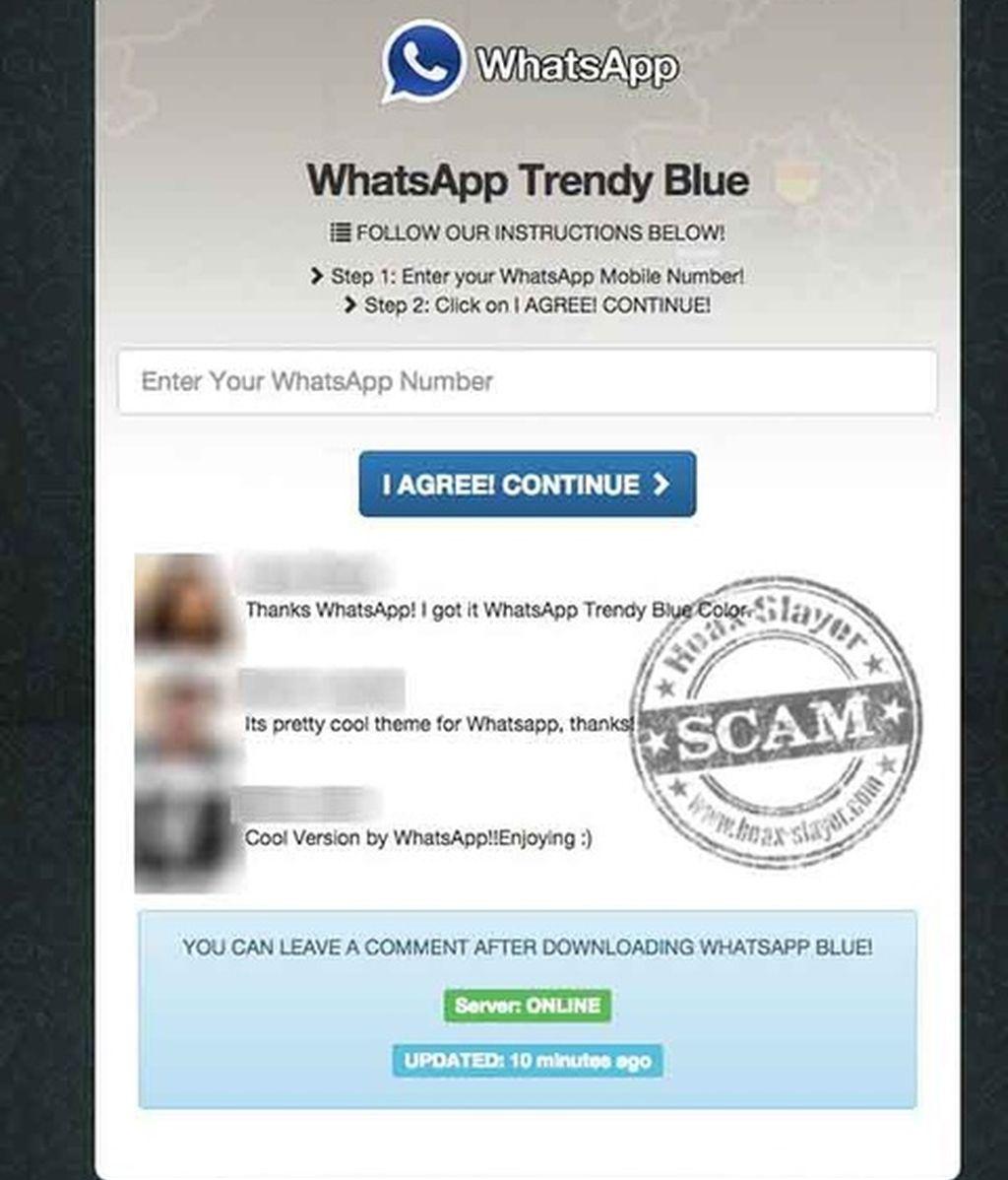 WhatsApp Azul, la última estafa a costa de WhatsApp