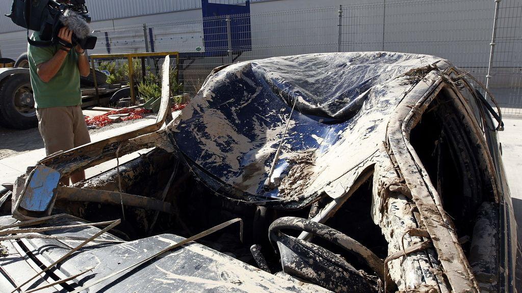 Accidente de tráfico en Tudela, Navarra. Foto: EFE