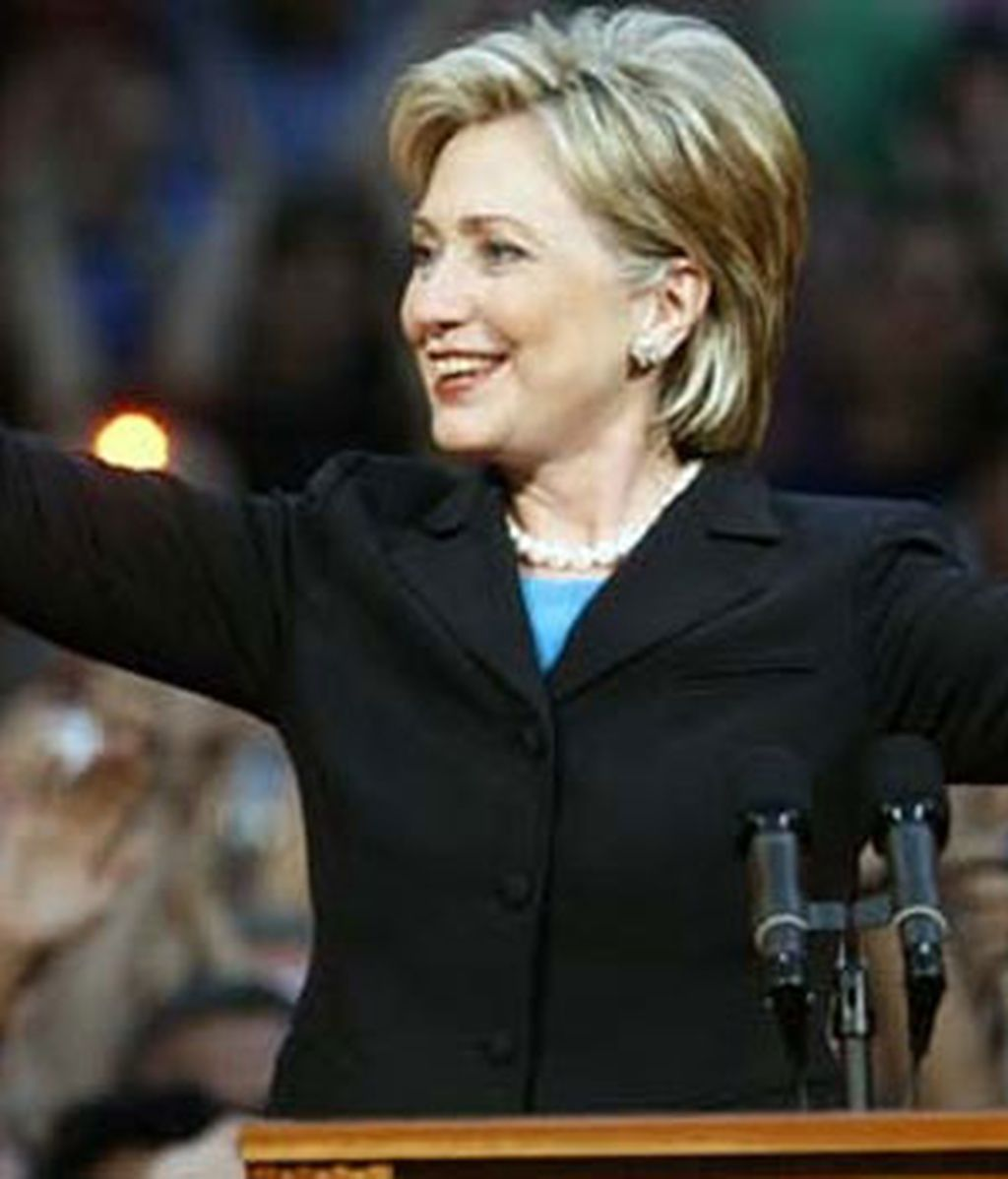 Clinton, en su despedida. Video: ATLAS