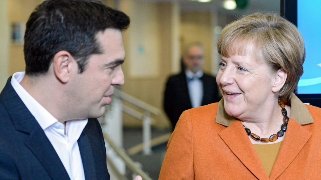 Angela Merkel y Alexis Tsipras