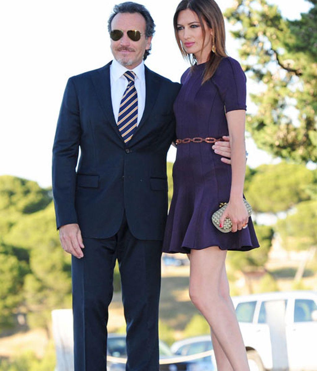 La modelo Nieves Álvarez y su marido, el fotógrafo Marco Severini