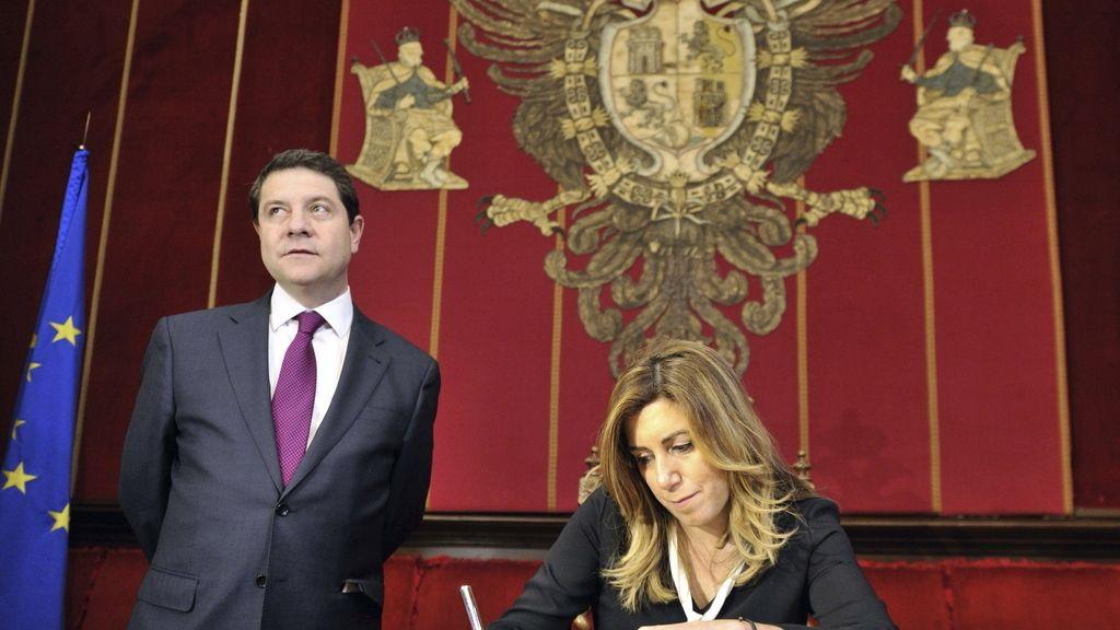 Susana Díaz visita Toledo con Emiliano García Page